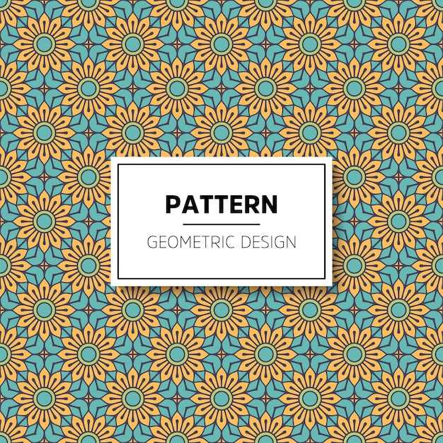 Diseño de fondo hermoso mandala de patrones sin fisuras