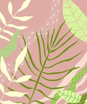 Diseño de fondo de hojas tropicales.