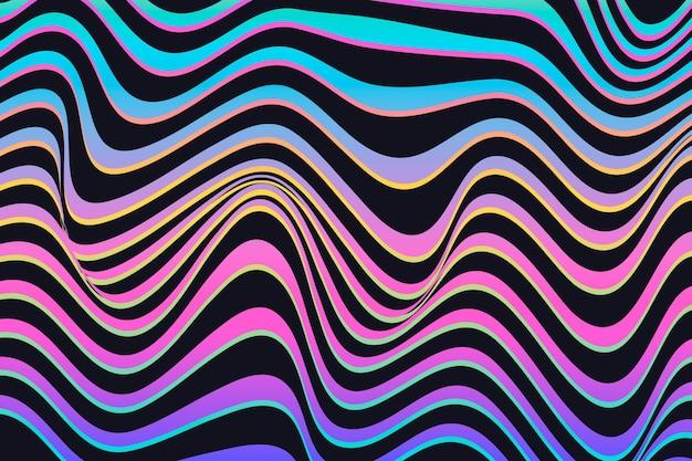 Diseño de fondo de ilusión óptica psicodélica