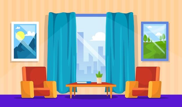 Diseño de fondo interior de casa