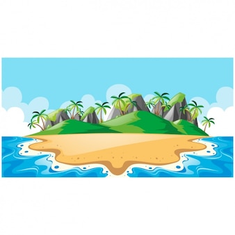 Diseño de fondo de isla