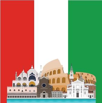 Diseño de fondo de italia
