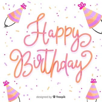 Diseño de fondo de letras feliz cumpleaños