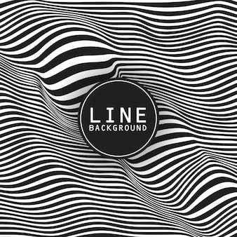 Diseño de fondo de línea con tema oscuro y logo