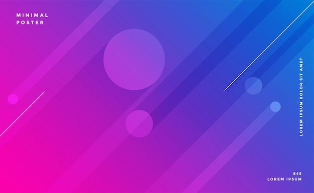 Diseño de fondo de líneas abstractas de colores