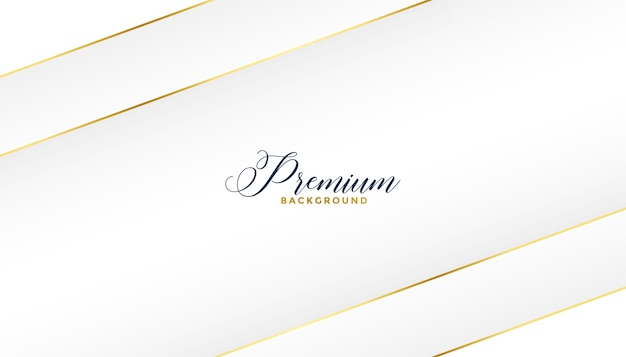 Diseño de fondo de líneas blancas y doradas premium
