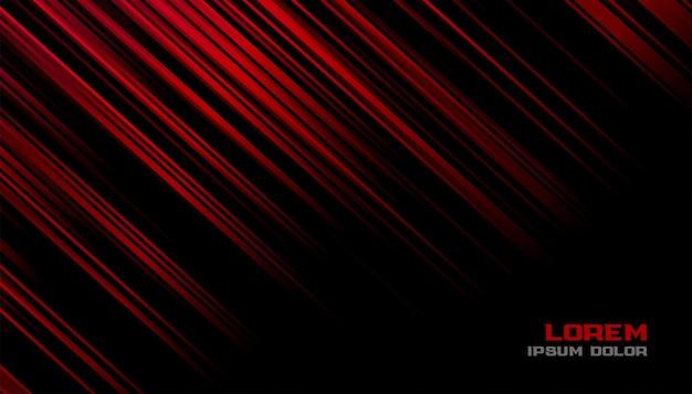 Diseño de fondo de líneas de movimiento rojo y negro
