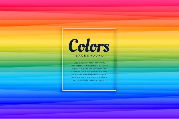 Diseño de fondo de líneas vibrantes de color abstracto del arco iris
