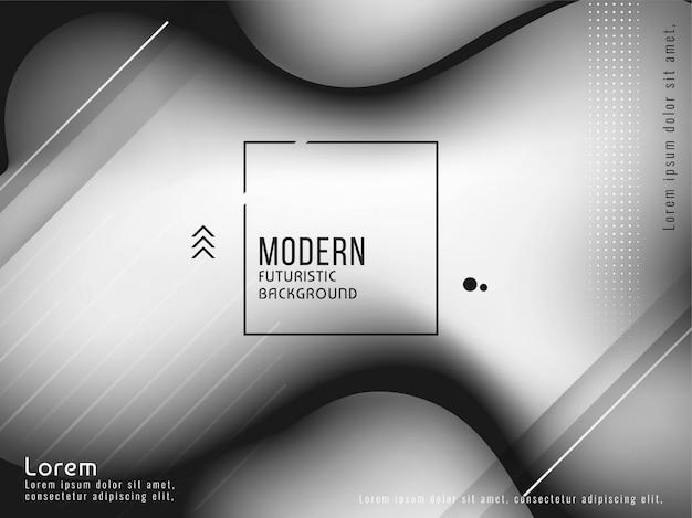Diseño de fondo líquido de color gris elegante moderno