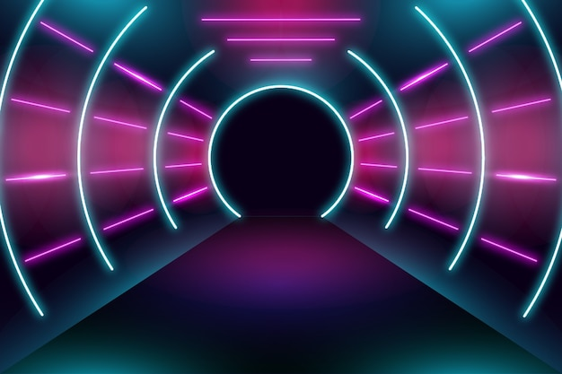 Diseño de fondo luces de neón