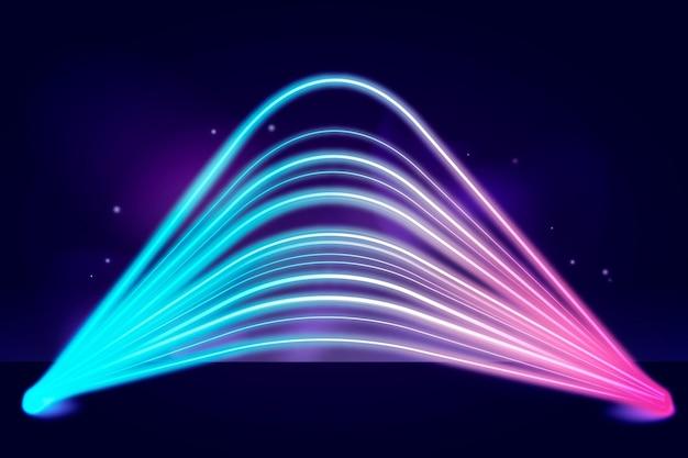 Diseño de fondo de luces de neón