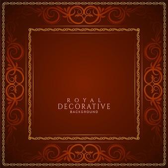 Diseño de fondo de lujo real de color rojo