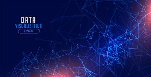 Diseño de fondo de malla de red de tecnología de visualización de datos