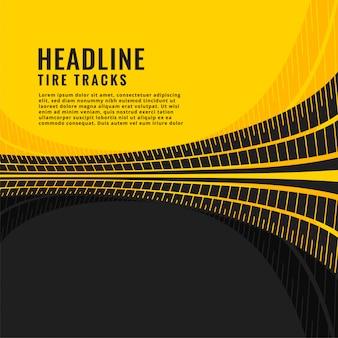 Diseño de fondo de marca de pista de neumático