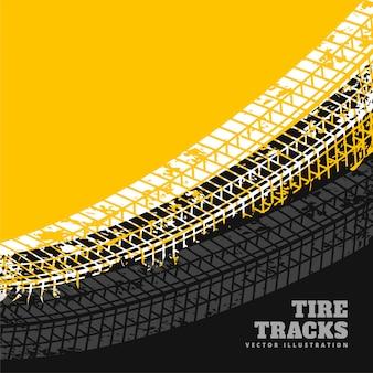 Diseño de fondo de marcas de neumático grunge