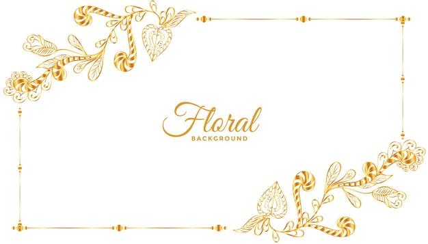 Diseño de fondo de marco floral clásico