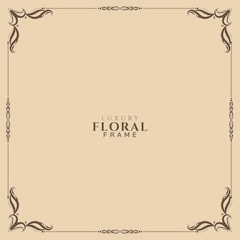 Diseño de fondo de marco floral decorativo