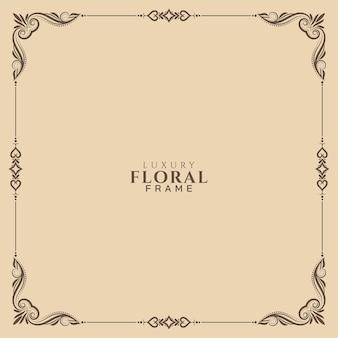 Diseño de fondo de marco floral elegante abstracto