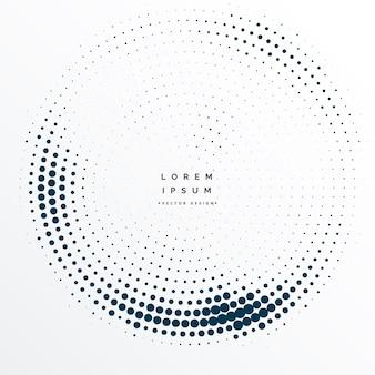 Diseño de fondo de marco de puntos de medias tintas