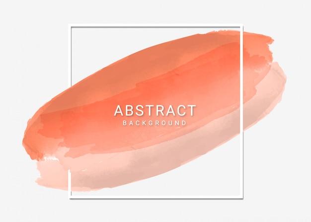 Diseño de fondo de marco de trazo de pincel abstracto