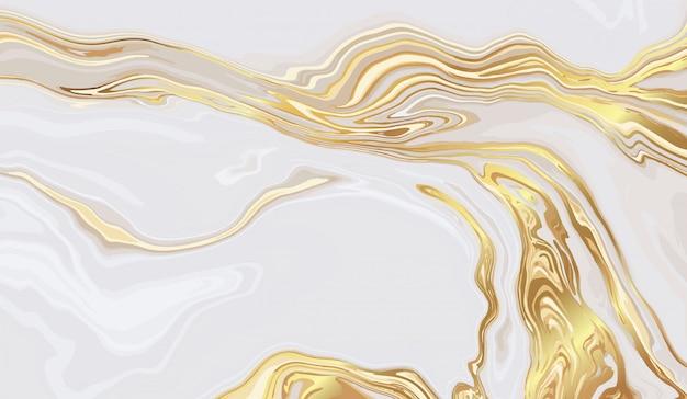 Diseño de fondo de mármol dorado de lujo