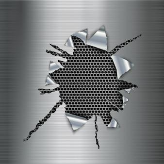Diseño de fondo metálico