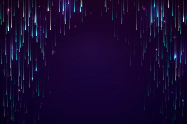 Diseño de fondo de meteorito de neón colorido