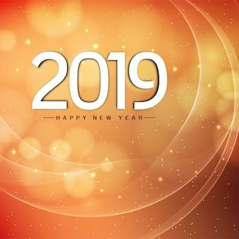 Diseño de fondo moderno abstracto año nuevo 2019