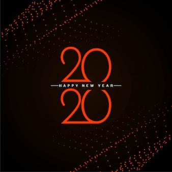 Diseño de fondo moderno de año nuevo 2020