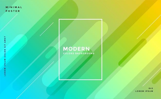 Diseño de fondo moderno de colores amarillo azul brillante