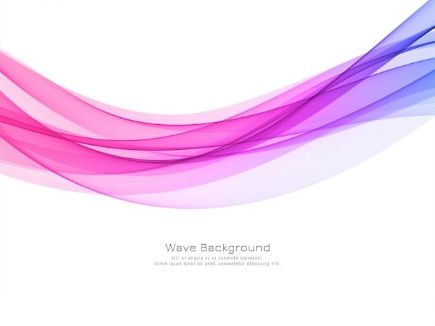 Diseño de fondo moderno de onda colorida con estilo