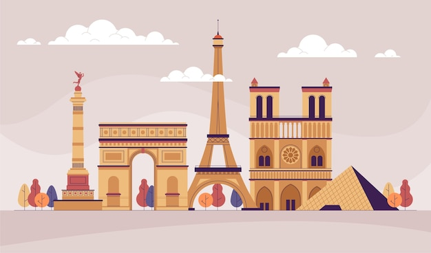 Diseño de fondo de monumentos de la ciudad