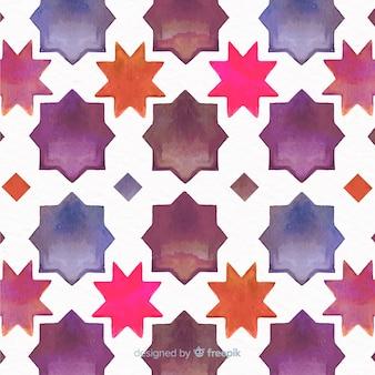 Diseño de fondo de mosaico de acuarela