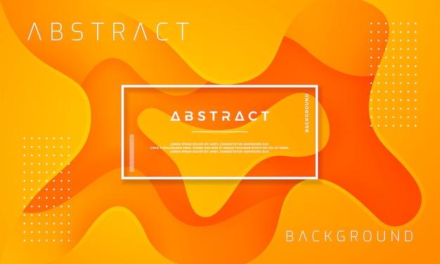 Diseño de fondo naranja con textura dinámica en estilo 3d