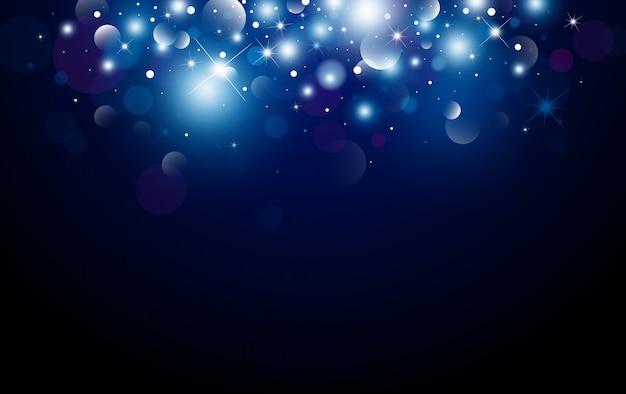 Diseño de fondo de navidad de bokeh y efecto de luz