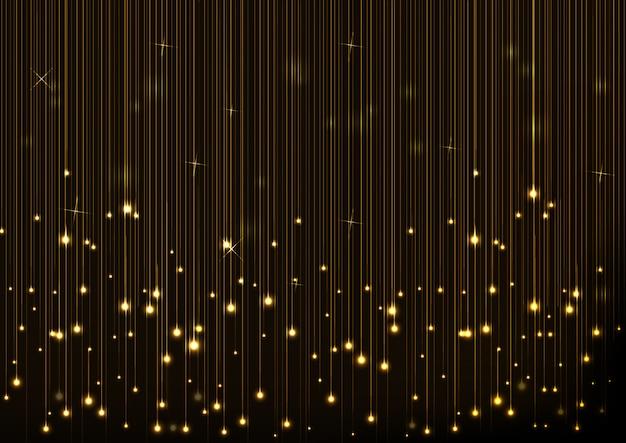 Diseño de fondo de navidad con cortina de luces brillantes
