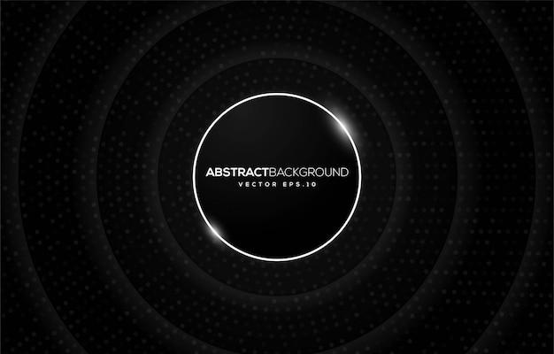 Diseño de fondo negro abstracto con concepto moderno