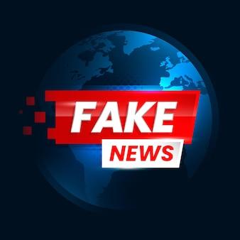 Diseño de fondo de noticias falsas
