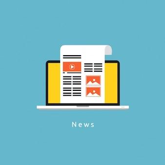 Diseño de fondo de noticias