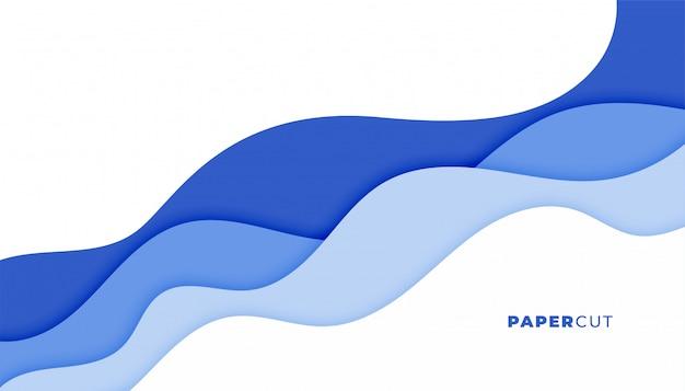 Diseño de fondo de onda elegante abstracto azul moderno