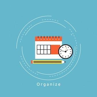 Diseño de fondo de organización