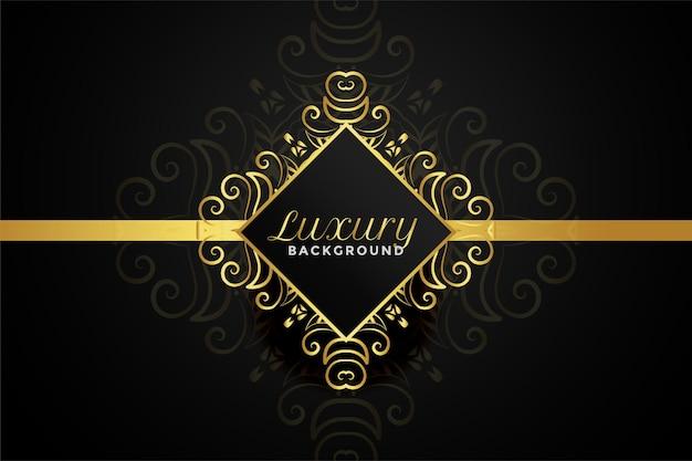 Diseño de fondo ornamental dorado de lujo