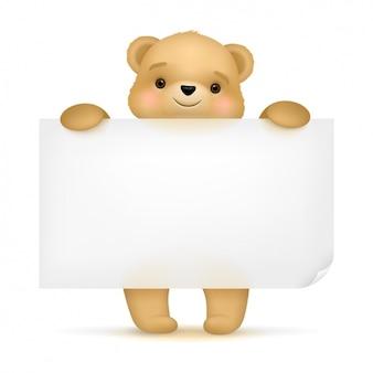 Diseño de fondo de oso adorable
