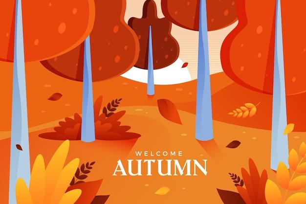 Diseño de fondo de otoño de árboles coloridos