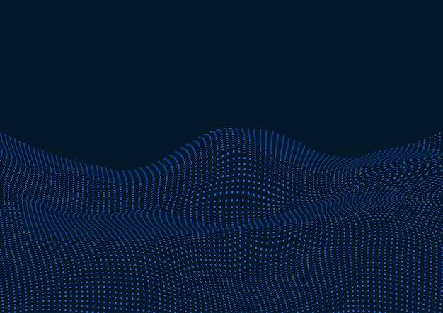 Diseño de fondo de paisaje de puntos tecno