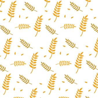 Diseño de fondo de panadería de trigo agradable