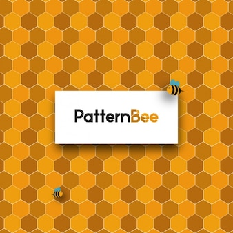 Diseño de fondo de panal de abejas
