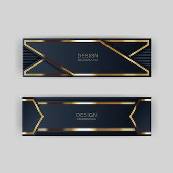 Diseño de fondo de papel de encabezados y pancartas