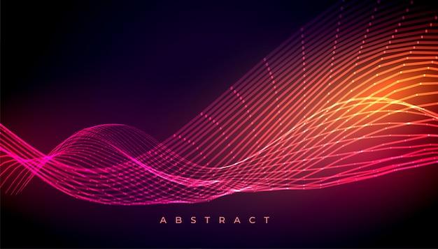 Diseño de fondo de papel tapiz de onda brillante colorido abstracto