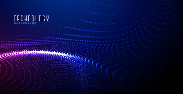 Diseño de fondo de partículas digitales brillantes